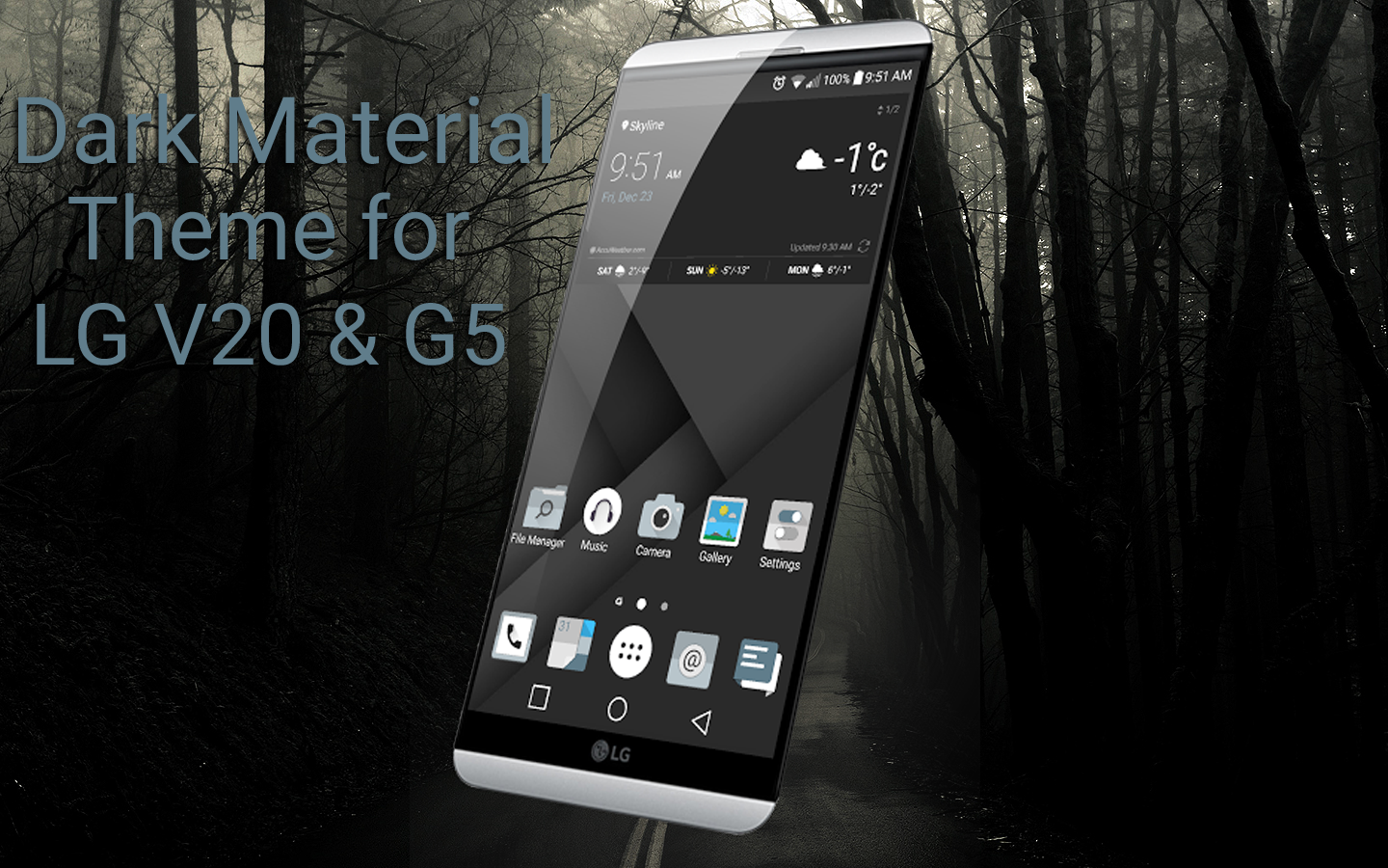 Dark Material theme for LG V20 1 0 3 APK Download - Android