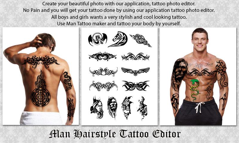 Man Hairstyle Tattoo Editor 131 Apk Download Android Photography Apps