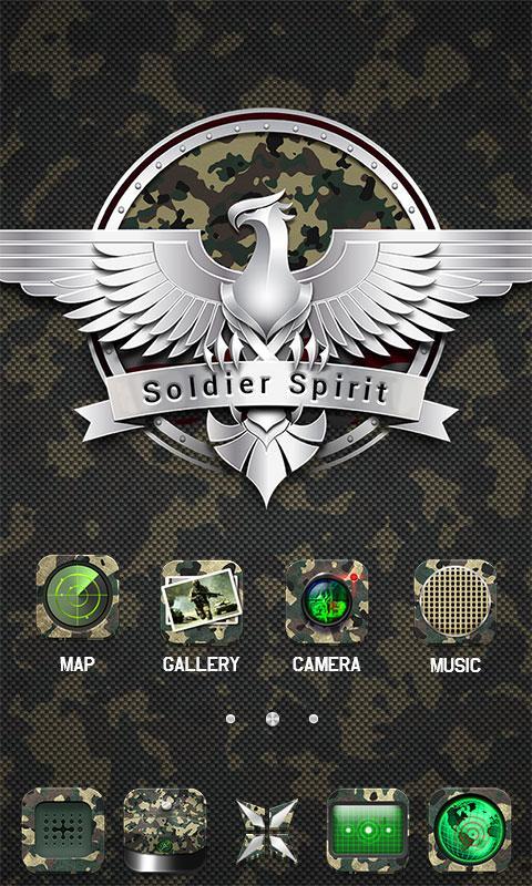Army GO Launcher Theme 599 Screenshot 2