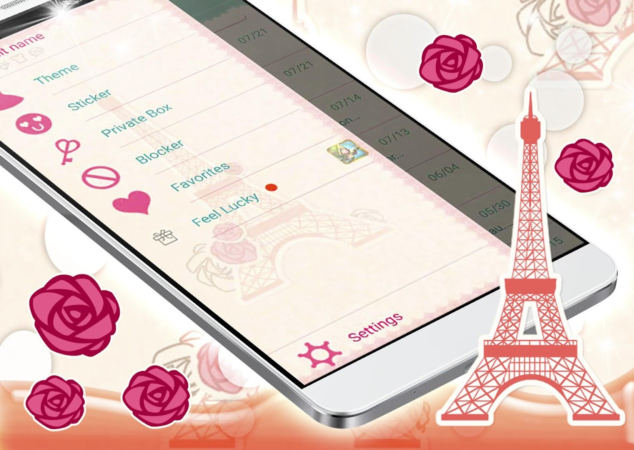love of paris sms theme 1.277.1.201 apk download - android