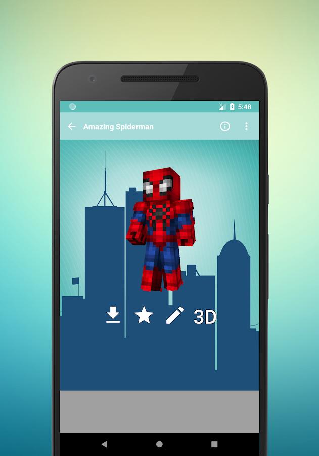 Superhero Skins For Minecraft D APK Download Android - Skin para minecraft pe de sasuke