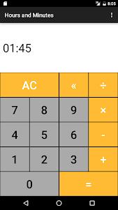 Hours & Minutes Calculator 1.3 screenshot 2