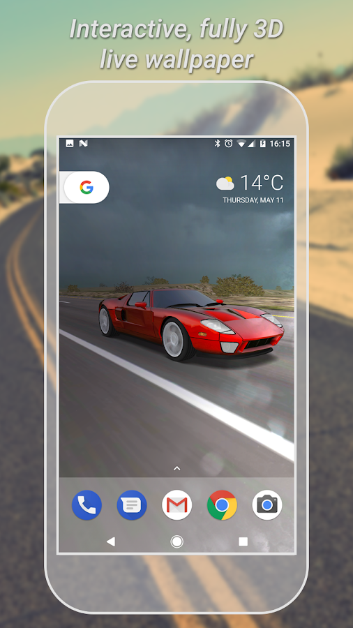 3d Car Live Wallpaper Free 4 4 Apk Download Android