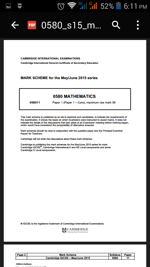 IGCSE PastPapers Maths0580 1 0 APK Download - Android Education Apps