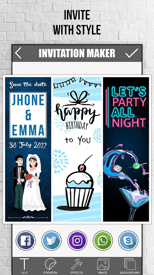 Invitation maker 20 13 apk download android photography apps invitation maker 20 13 screenshot 5 stopboris Images
