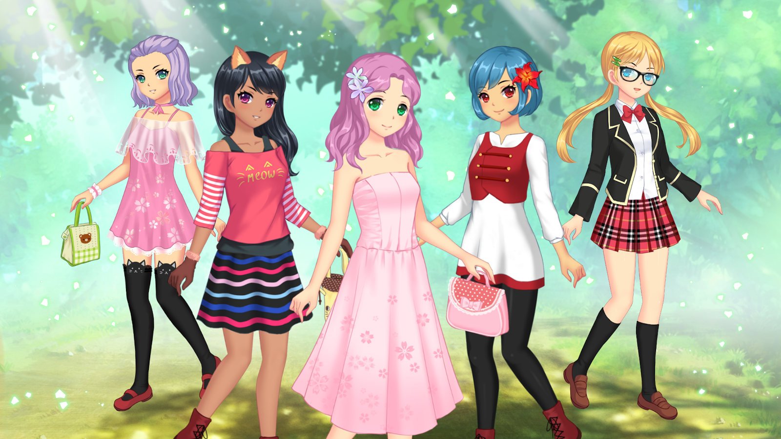 Anime dress up games for girls 1 1 5 screenshot 13