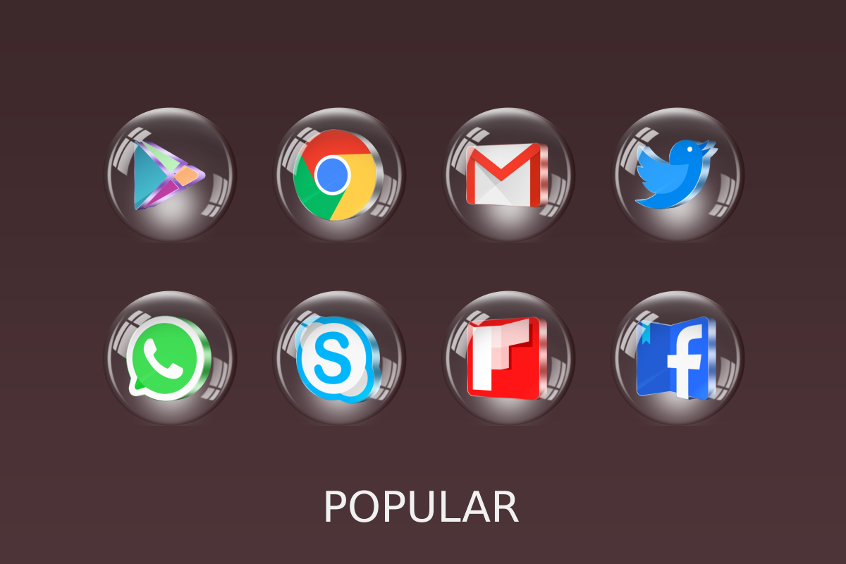 glass 3d icon pack 3 0 1 apk download android personalization apps