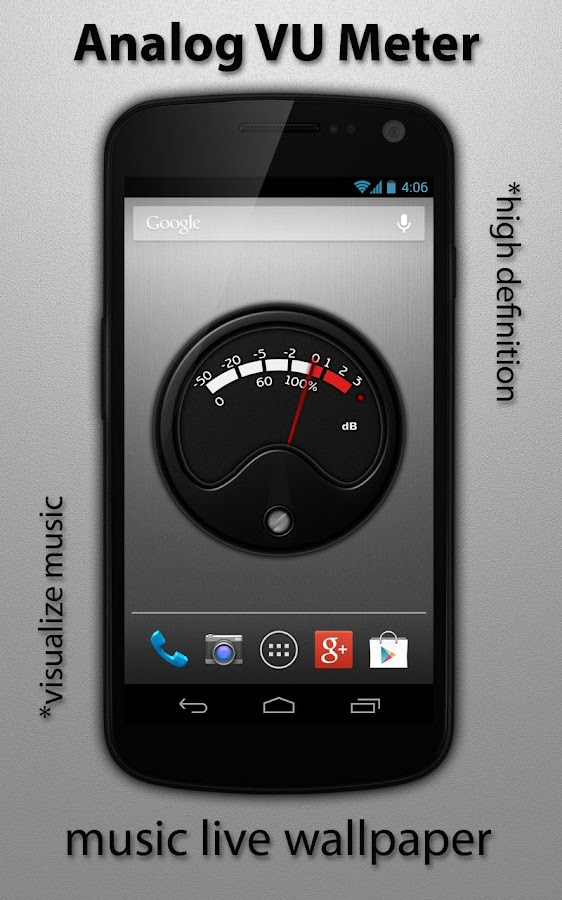 VU Meter Live Wallpaper 1.1.3 APK Download - Android Music & Audio on scotland screensavers and wallpaper, audio wave wallpaper, butterfly screensavers and wallpaper,