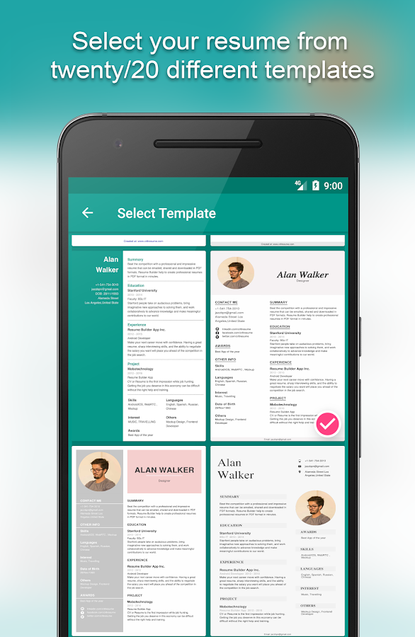 Resume Builder App Free 8541 Free Apk Download Android Tools Apps