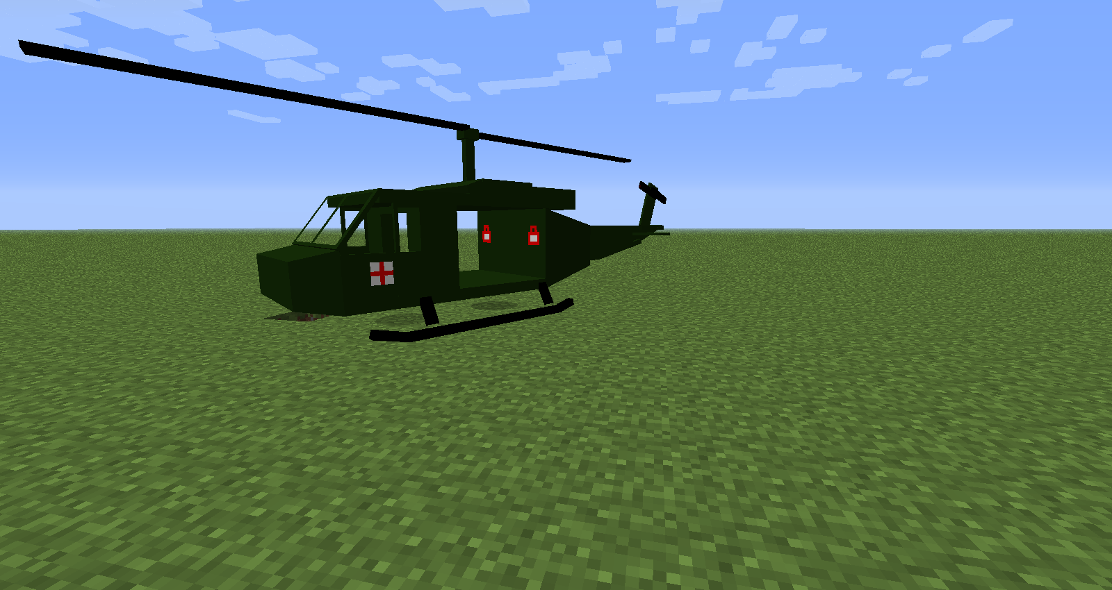 Вертолет в майнкрафт