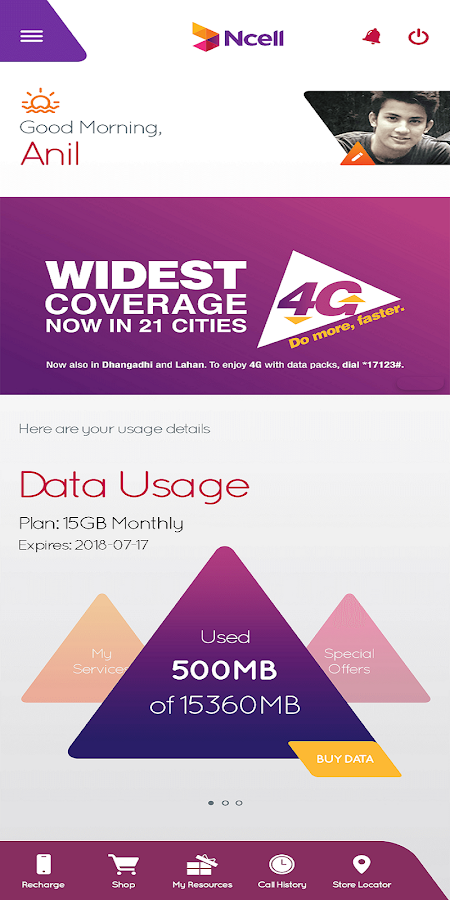 Ncell App - Free SMS, Buy Data Packs, Recharge 3 0 0 1 APK