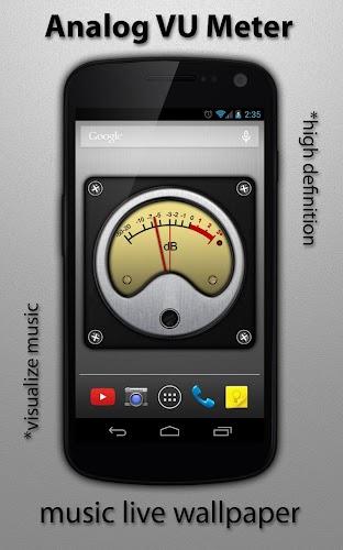 Analog Meter Background : Vu meter live wallpaper free apk