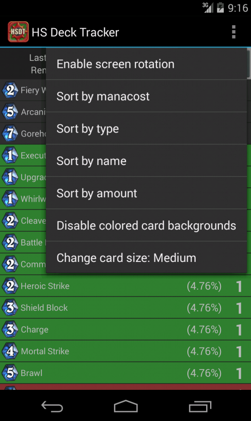 Deck Tracker for Hearthstone 0 7 APK Download - Android