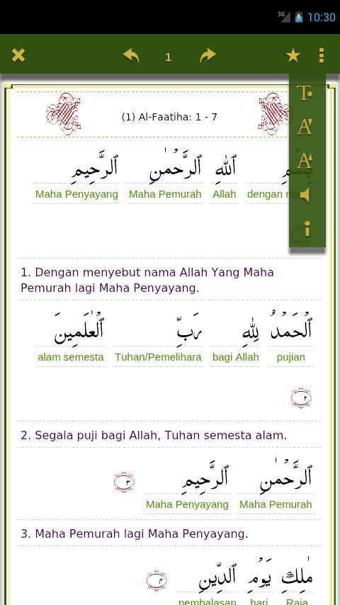 Quran Kata Per Kata 10 Apk Download Android Books