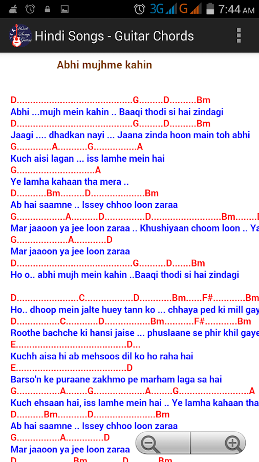 Hindi Songs Guitar Chords Free 10 Apk Download Android Music