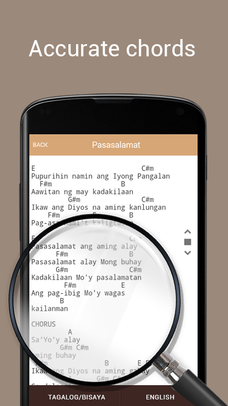 Praise and Worship Lyrics & Chords with Tagalog 1.3 APK Download ...