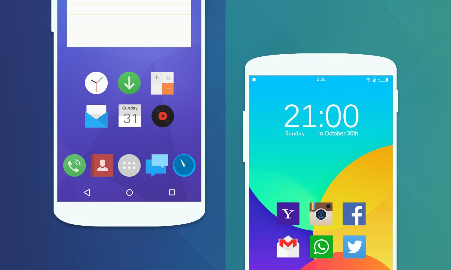 KK Launcher FlyMe Theme 1 2 APK Download - Android Personalization Apps