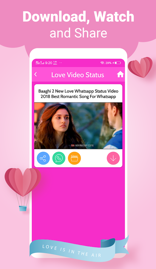 whatsapp love song video download 2018