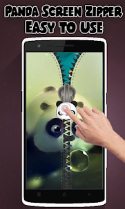 Panda Lock Screen Zipper 1.2 screenshot 2