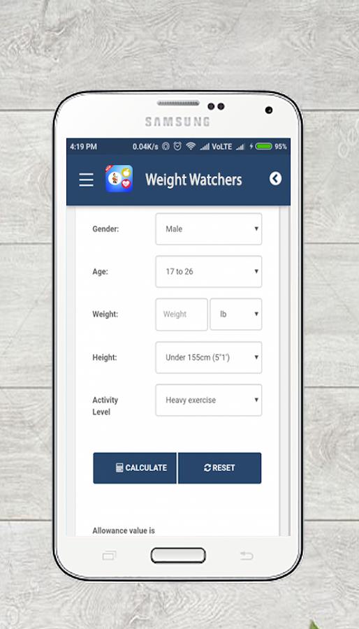 Free weight watchers points calculator app 3. 0. 2 apk.