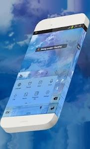 Dainty weather Keypad Theme 1.3 screenshot 2