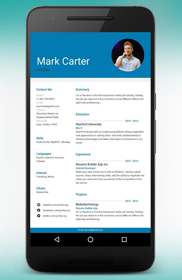 Resume Builder and CV maker app 9.0.0.pro APK Download - Android ...