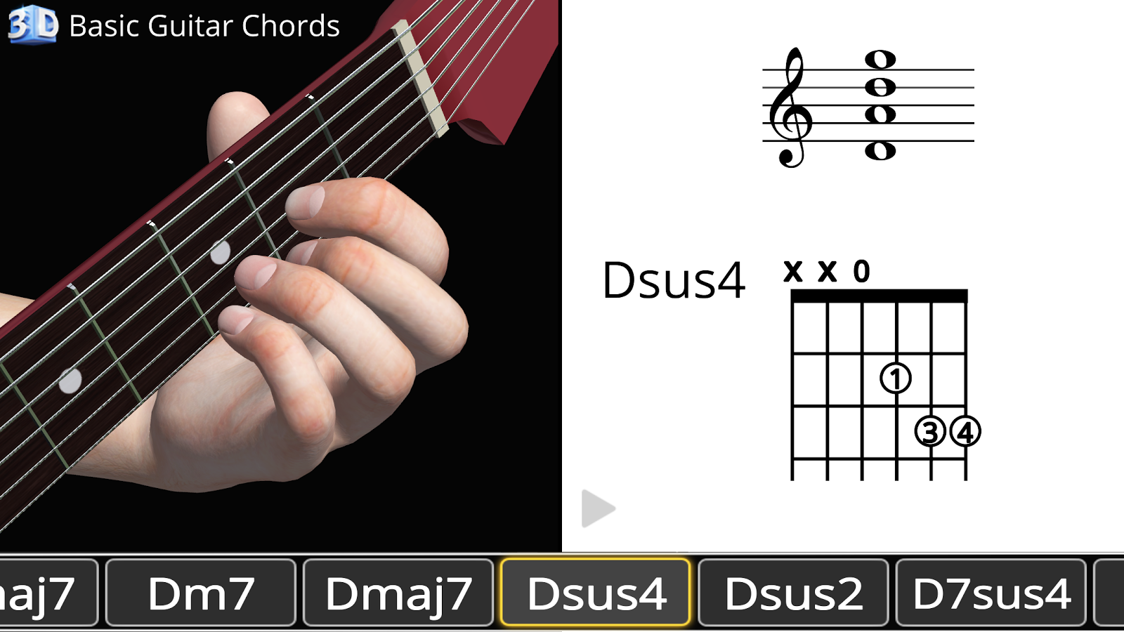 Guitar 3d Basic Chords 119 Apk Download Android Education Apps
