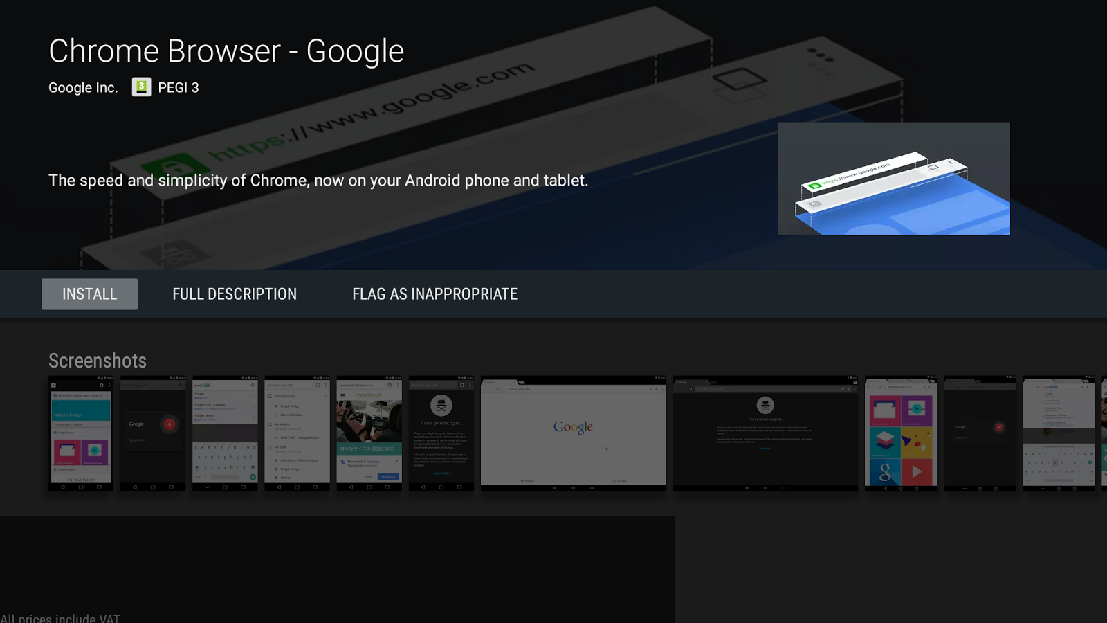 chrome apk for android tv