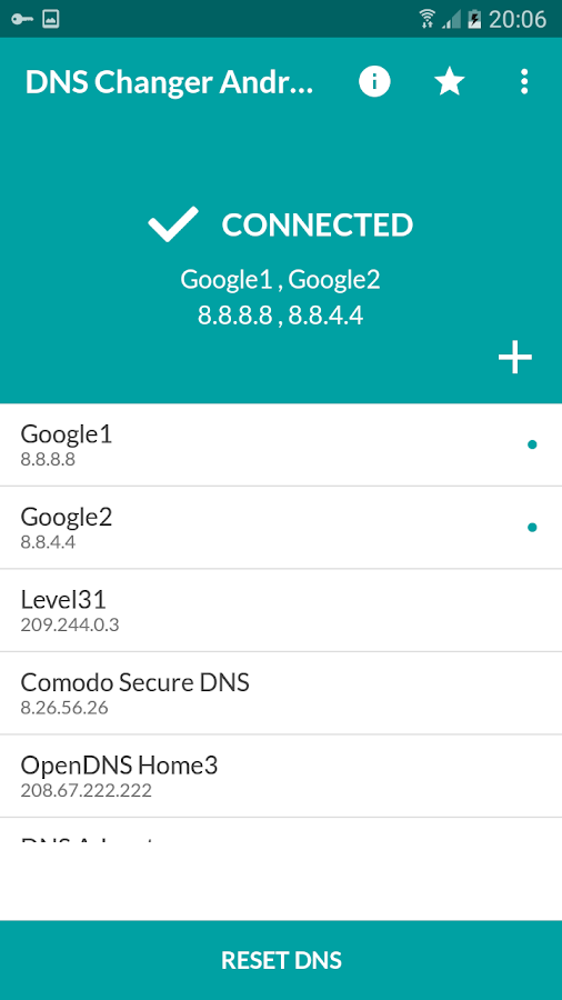 DNS Changer Android (no root 3G/WiFi) 1 2 APK Download