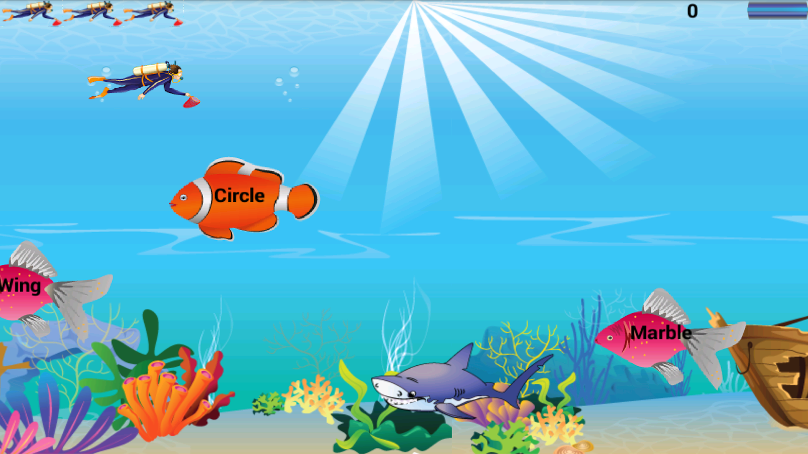Kids english grammar fish game apk download android for Game and fish