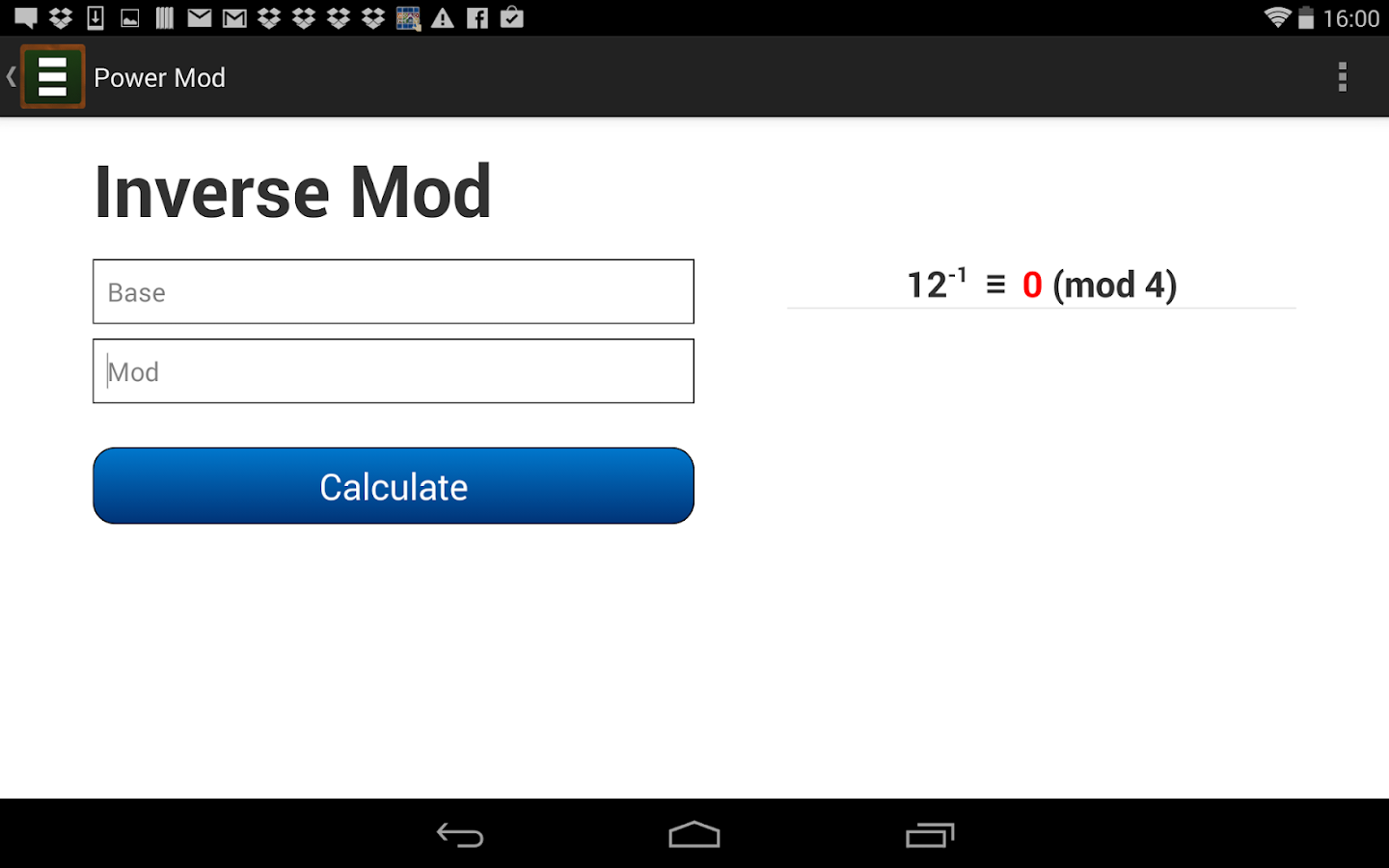 Power Mod Calculator 3 0 4 APK Download - Android Education Apps