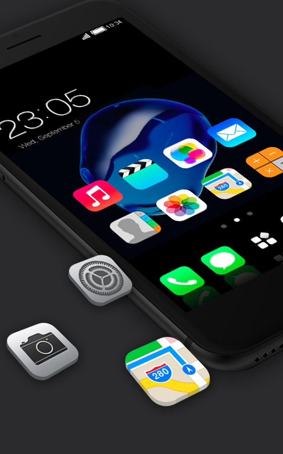 Stylish launcher theme for New iphone 7 2 1 8 APK Download
