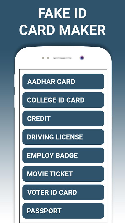 Fake ID card maker and generator 1 0 1 APK Download