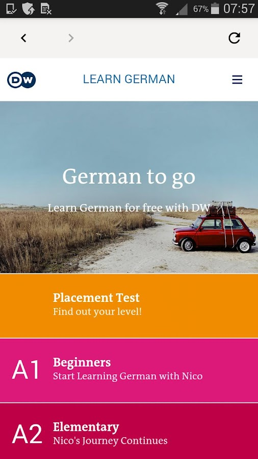 DW Learn German - A1, A2, B1 and placement test 1 0 APK Download