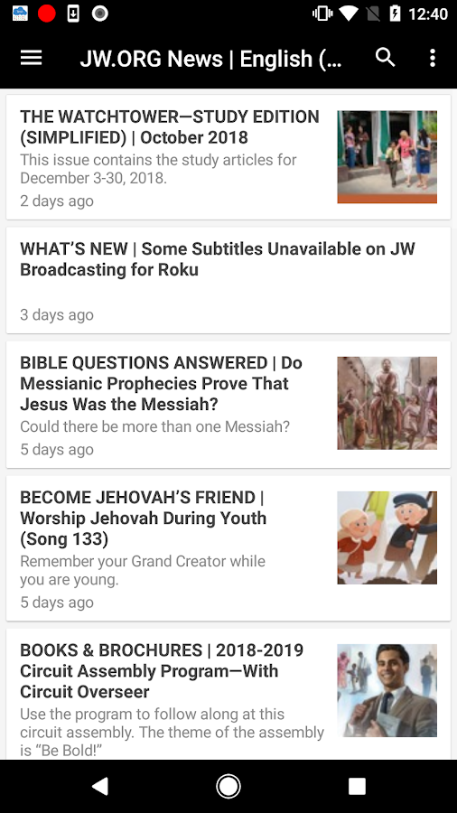 JW Broadcasting & News 2 2 APK Download - Android cats