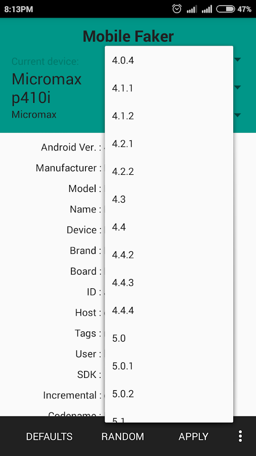 device faker root apk