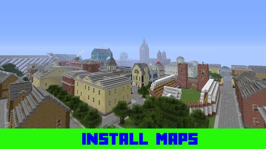 карта для майнкрафт 1.7.2 большлй город #10