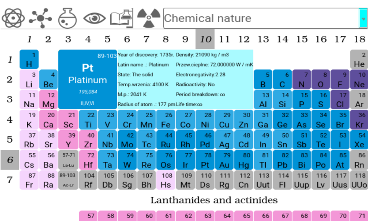 Periodic table pro 19 apk download android education apps periodic table pro 19 screenshot 15 urtaz Gallery