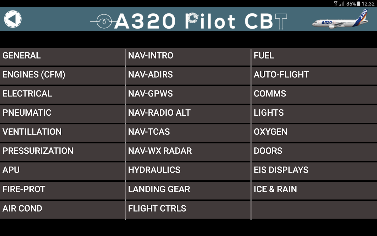 Airbus a320 systems cbt 10 apk download android education apps airbus a320 systems cbt 10 screenshot 4 fandeluxe Choice Image