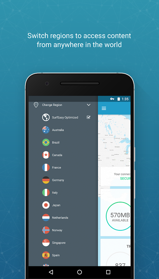 SurfEasy Secure Android VPN 4 1 1 APK Download - Android Tools Apps