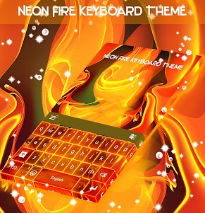 Neon Fire Keyboard Theme 1.279.13.92 screenshot 4