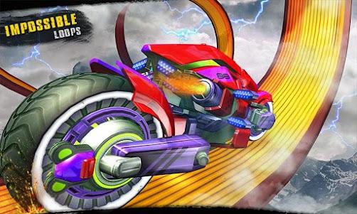 Impossible Moto Bike Tracks Robot Transformation 1.0 screenshot 6