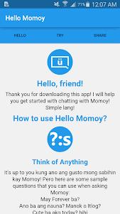 Hello Momoy 1.0 screenshot 1