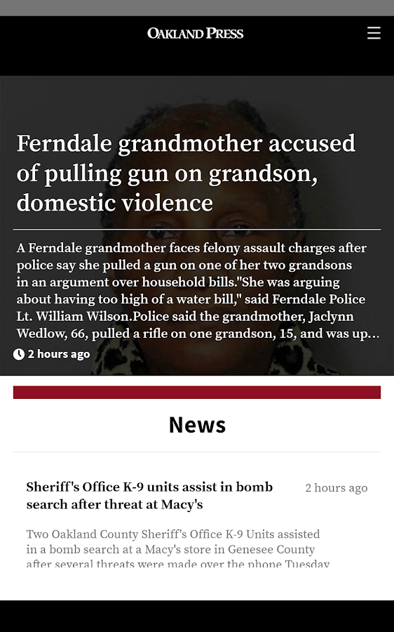 The Oakland Press 7 3 13 APK Download - Android News