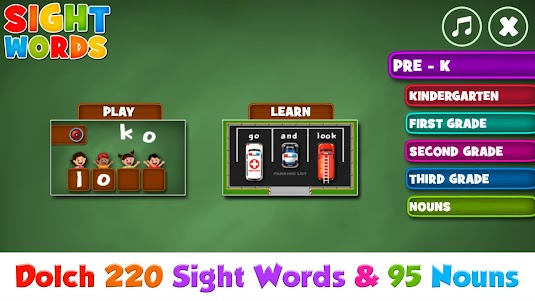 Sight Words  Pre-K to Grade-3 1.5.1 screenshot 1