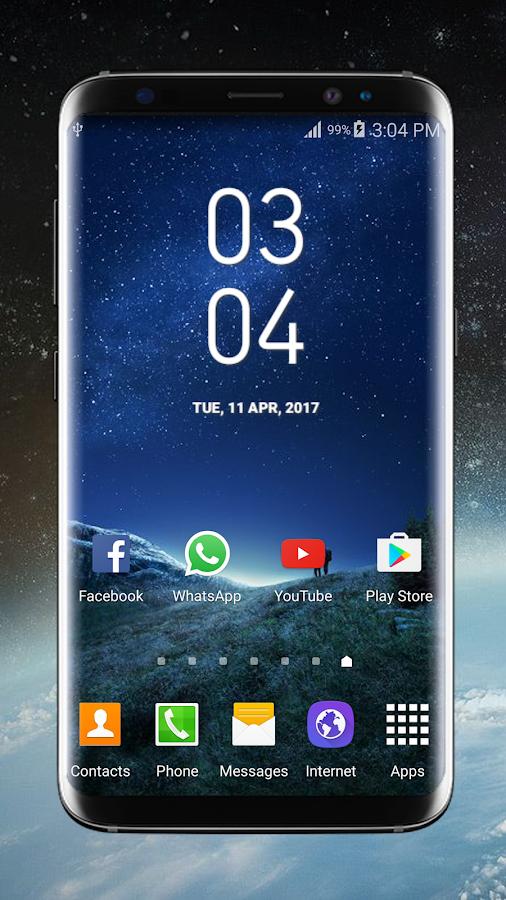 Galaxy S8 Plus Digital Clock Widget Pro + 1 0 7 APK Download