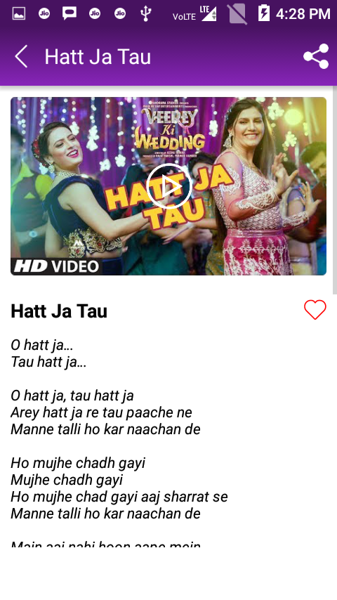 1c63284f349 ... Hatt Ja Tau Song Videos - Sapna Chaudhary 1.7.7 screenshot 4 ...