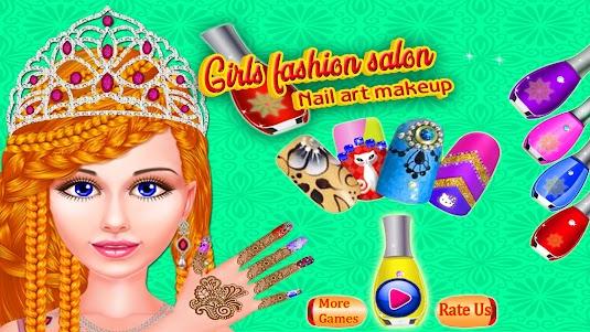 Girls Fashion Salon - Nail Art Makeup 1.4 screenshot 1