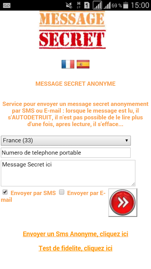 uk availability wide varieties classic style Message Secret Anonyme par SMS 1.0 APK Download - Android ...