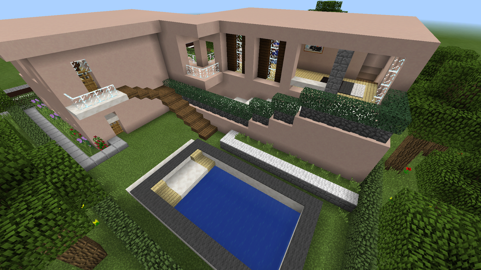 Mansion Maps For Minecraft Pe Palau Map Cyride Map - Minecraft real spielen